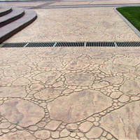 供西安彩色水泥艺术压花景观道路地坪