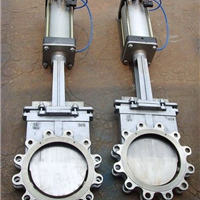 供应PZ673X对夹式气动刀型闸阀