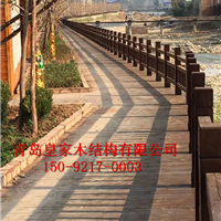 防腐木户外地板 阳台实木板材栈道