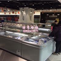 超市冷链设备厂家/卧式节能岛柜/海鲜冷冻柜
