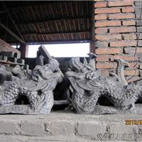 供应寺庙屋顶古建用烧制龙二龙戏珠批发