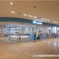 机场商铺铝合金水晶推拉门