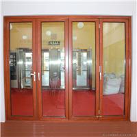 供应88铝木复合折叠门博森特铝木门窗