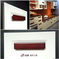 供应京派橱柜烤漆新款X型玻璃门型