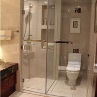 供应酒店工程卫生间玻璃隔断淋浴门