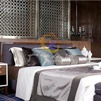 巧妙利用客厅不锈钢屏风隔断让家增添新感觉