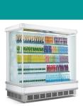 长沙饮料风幕柜 饮料展示柜 牛奶展示柜
