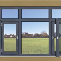 艺邦门窗 凉爽舒适 厨房铝合金纱网平开窗