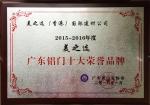 广东铝门十大品牌荣誉