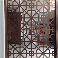 供应高端金属镂花屏风、酒店别墅背景墙