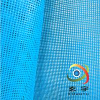 供应出口日本蓝绿色高强纱围裙PVC网格布