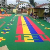 遂宁南充幼儿园室外悬浮拼装地板运动地板