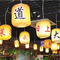 竹编灯笼厂家定做景观装饰南京大排档灯笼