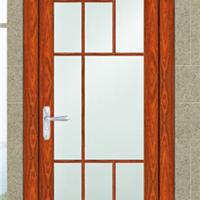 供应 清新简约 双层钢化玻璃 铝合金平开门