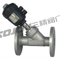 供应不锈钢气动法兰式角座阀 环保设备