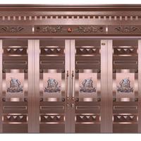 供应甘肃酒泉铜门生产厂家、紫铜门安装