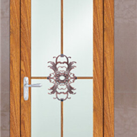 双层钢化玻璃 隔音防噪 室内铝合金平开门