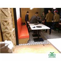 厂家直销电磁炉火锅桌 中式黑色金属火锅桌