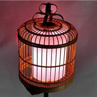 厂家定做特色创意仿古装饰景观竹制鸟笼灯笼