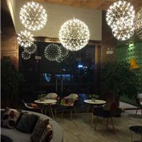 中庭吊灯商场中庭大厅LED烟火花星球吊灯