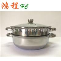 厂家供应不锈钢双层汤蒸锅28cm