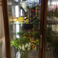 厦门鲜花冷藏陈列柜 把手玻璃门鲜花柜