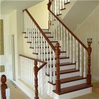 阁楼别墅专用实木楼梯扶手旋转楼梯玻璃护栏厂家直销