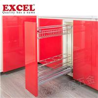 新加坡EXCEL五金品牌窄柜调味拉篮超窄拉篮