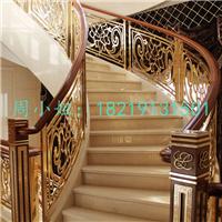 K金镜面铝艺楼梯护栏 欧式的栏杆花纹