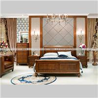 美式实木床图片系列传统榫卯工艺经典之作