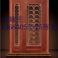 供应北京亚斯王别墅门玻璃防盗门别墅玻璃门