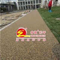 供应透水卵石路面铺装,彩色透水胶粘石路面