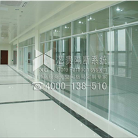 加工定制西安双玻百叶玻璃隔断