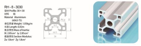 供应3030工业铝型材瑞鸿铝制品