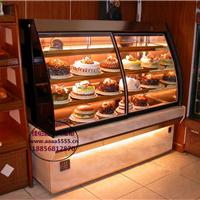 欧式豪华蛋糕柜威海定做弧形蛋糕冷藏柜厂家