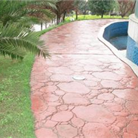 亚石地坪供应北京广场路面装饰艺术压花地坪
