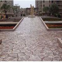 亚石供应江阴公园路面彩色混凝土压模地坪
