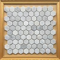 六边形白色石材马赛克 CHB049 异形马赛克