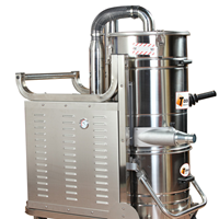 供应杭州面粉厂大功率打磨粉尘工业吸尘器
