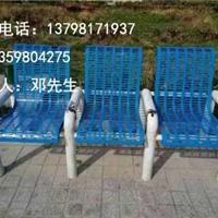 商业街铁质休闲椅-园林铁座凳