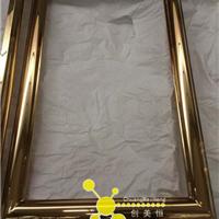 定制酒店钛金不锈钢镜框,中式不锈钢镜框
