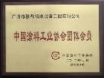 中国涂料协会会员