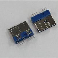 供应MICRO USB3.0夹板公头超薄双接口定义