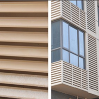 供应楼房建设用的锌钢百叶窗