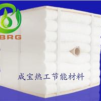 高温煅烧炉保温用硅酸铝陶瓷纤维棉进行保温