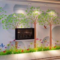 供应大型无缝壁画背景墙儿童房幼儿园