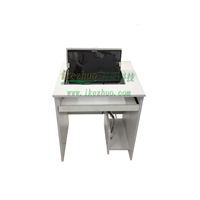 科桌单人翻转电脑桌 电脑嵌入桌内的电脑桌