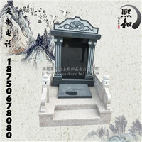 加工定制汉白玉石雕墓碑 精美山西黑墓碑