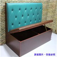 供应定制生产皮制卡座沙发、餐厅卡座