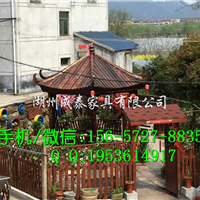 浙江新农村改造用六角凉亭、防腐木凉亭厂家